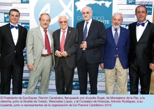 Premio Cantabrico Excelente a Euroespes y Ramón Cacabelos